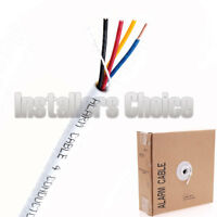 Security Wire Burglar Alarm 22/4 Cable 500FT Solid White Speaker Cable