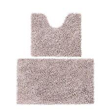 Soft Floor Mat Shaggy Rug Entrance Chenille Bathroom Absorbing Carpet Bath Set