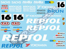 1/10 Decal Set Porsche Repsol 962C 1990 GT10 X1 Tamiya F103 F104 Xray