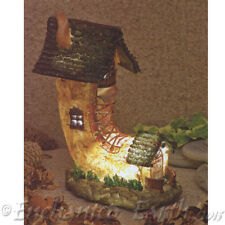 New Garden Glows Solar Fairy House-Boot Cottage -Home of Water Goldwasp .