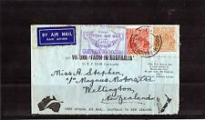 1934 Melbourne To Wellington Air Mail Cover, 2 KGV Stamps, Good Condition
