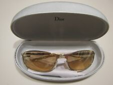 Vintage Christian DIOR Hard Dior 2 3YG Gold Frame Rhinestone Crystal Sunglasses