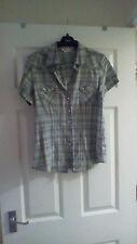 Topshop Waist Length Check Casual Tops & Shirts for Women