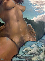 "Nude Female Oil Painting, 18""x24"" Signed Original"