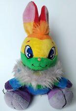 Neopets Rainbow Cybunny Plush Stuffed Animal Plushie Soft Toy 2007 Rare