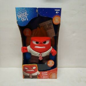 Disney Pixar Inside Out Tomy Anger Action Figure w/ Newspaper NEW 🔥🔥🔥
