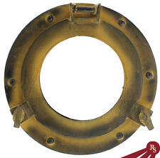 "9"" PORTHOLE Window - Yellow Finish - PORT HOLE ALUMINUM"