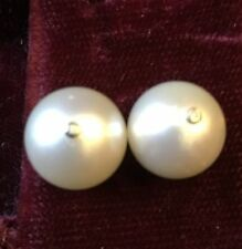 Natural White Gold Fine Pearl Earrings