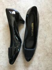 NEW Naturalizer Black Patent Pumps with Leather Detail - Size 7.5 M