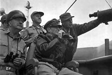 New 5x7 Korean War Photo: Douglas MacArthur & Others Observe Shelling of Inchon