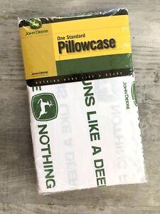 John Deere Standard Pillowcase Nothing Runs Like A Deere  NEW In Package