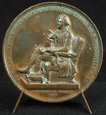 Médaille au poète Jean-Baptiste Gresset d'ap G de Forceville c1850 Amiens medal