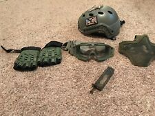 Airsoft Gear! Helmet, Goggles, Mask, Gloves, & Speed loader