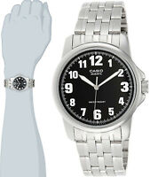 Casio Men's Black Analog Stainless Steel Band Numbers Watch MTP-1216A-1BD New