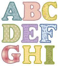 Applique 1 Alphabet Machine Embroidery Patterns *26 designs* 3in