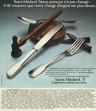 Publicité 1973  Saint Médard argenterie couvert vaisselle art de la table