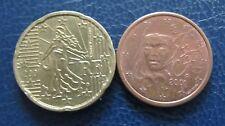 5 + 20 cent euro moneta Francia memorizzare anno 2001 da circolazione oggetto da collezione!
