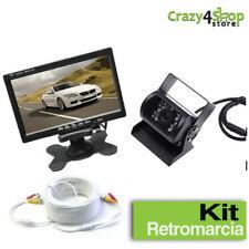 """Kit retromarcia wireless Telecamera per camper, auto, Monitor LCD 7"""" CAVO CAMERA"""