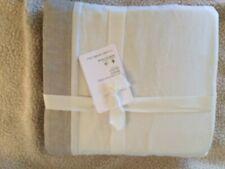"pottery barn belgian flax linen basic queen bedskirt color is Flax 14"" drop"