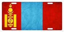 MONGOLIA Flag Custom License Plate NATIONAL Emblem PAPER Version