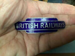 Vintage British Railway Cap Badge with split pin fastener