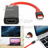 USB 3.1 Type C Male To HDMI Female Adapter Converter Cable For Macbook 4K HDTV
