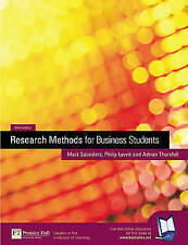 Research Methods for Business Students Good condition, UK seller