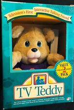 TV Teddy Vintage VHS VCR Interactive Wireless Teddy Yes Tested Partially Working