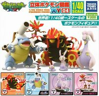 New Pokemon Rittai Zukan XY 04 Takara Tomy Mini Figures Set of 4 Japan