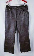 NEWPORT NEWS BROWN LEATHER PANTS WOMEN'S SIZE 12P