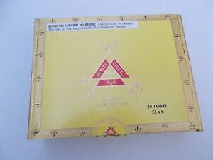 MONTECRISTO CIGAR BOX ( NO CIGARS ) 22cm x 17cm x 6cm Free Shipping UK