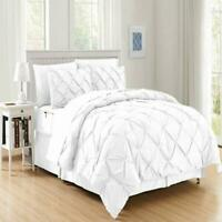 Elegant Comfort 8-Piece Bed-in-a-Bag Pintuck Comforter Set - Twin/Twin XL