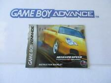 nintendo gameboy advance manual: NEED FOR SPEED porsche unleashed -usa-