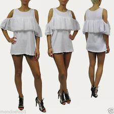 Damenblusen, - tops & -shirts im Boho-Stil mit Rundhals Normalgröße