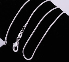 Wholesale 925 sterling solid Silver lots 5pcs 1mm Snake Chain Necklace 22inch