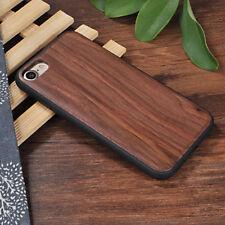Apple Iphone 6 6s 7 8 cover case hard back real sandal wood wooden oak Walnut br