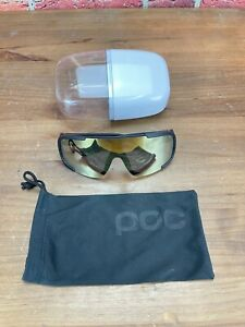 POC Aspire Cycling Sunglasses Clarity Lens Uranium Black/Grey Violet Gold Mirror