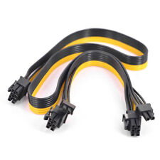 For Cooler Master Silent Pro Gold 1200W PCIe 6 Pin to dual 6+2 8 Pin Power Cable