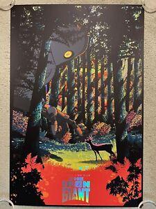 The Iron Giant Brad Bird Animated Movie Poster Mondo Foil Art Print Raid71