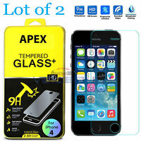 2X Premium HD Tempered Glass Film Screen Protector Guard For Apple iPhone 4S 4