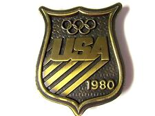 VINTAGE 1980 USA OLYMPICS BELT BUCKLE BERGAMONT BRASSWORKS