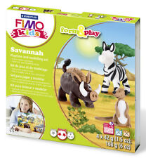 Fimo Kits For Kids Form & Play Polymer Modelling Oven Bake Clay - SET Savannah