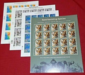 First 4 US Semi-Postal US PS Stamps B1, B2, B3, and B4 in full sheets of 20 each