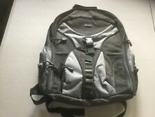 Slightly Used Targums Adult Backpack with Laptop Pouch.  Black, gray.