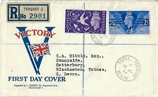 More details for v for victory first day cover fdc 1945