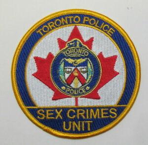 Canada Toronto Ontario Canadian Police Sex Crimes Unit SCU Patch RARE