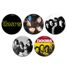 5x The Doors Band Psychedelic Rock 25mm / 1 Inch D Pin Button Badges