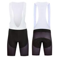 New Solid Black Mens Bike Bib Shorts Cycling Brace Short Pants Bicycle Padded