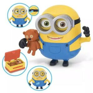 Minions POSEABLE Deluxe Action Figure BOB WITH TEDDY BEAR (20181) SENSORY Toy