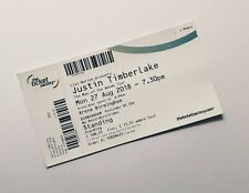 More details for justin timberlake tickets - unused ticket(s) birmingham 27/08/18 memorabilia